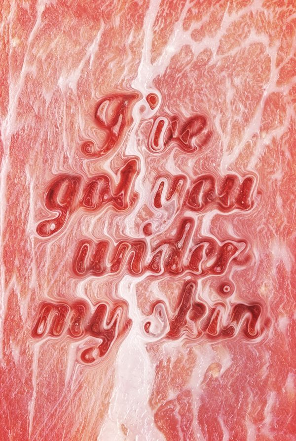Meat typography