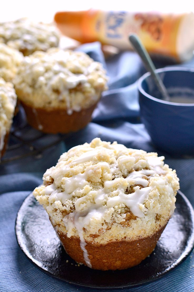 These Caramel Cappuccino Muffins are packed with the delicious flavors of caramel and espresso and topped with a generous layer of streusel and a drizzle of sweet caramel icing. Perfect for special occasions or any day!