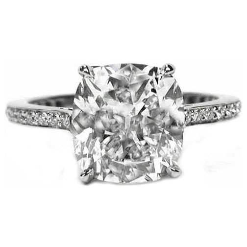 Platinum Cushion Diamond Cathedral Engagement Ring: Jewellery Craves, Delicate Jewelry, Dearest Friends, Cushion Diamond, Friendship Rings, Jaunty Jewelry, Engagement Ring, Finger