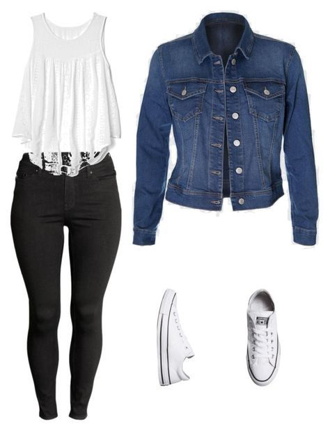 """Outfits para la Universidad"" by paola-oliveros on Polyvore featuring H&M, Gap and Converse"