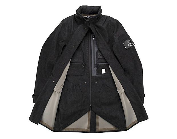 another high end fashion product - a wonderful outwear piece from the fall/winter collection of Stone Island's Shadow Project