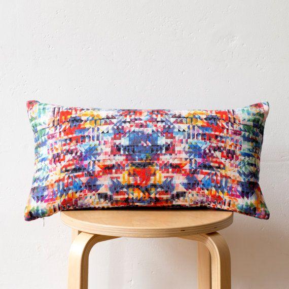 Geometric Print Cushion: 'Bargello' design by PixelAndThread