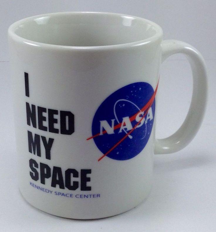 "NASA Coffee Mug Cup ""I Need My Space"" Kennedy Space Center ..."