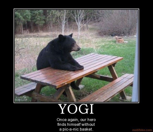 Yogi Bear Quotes Picnic Basket: YOGI Bear Food Humor Picnic