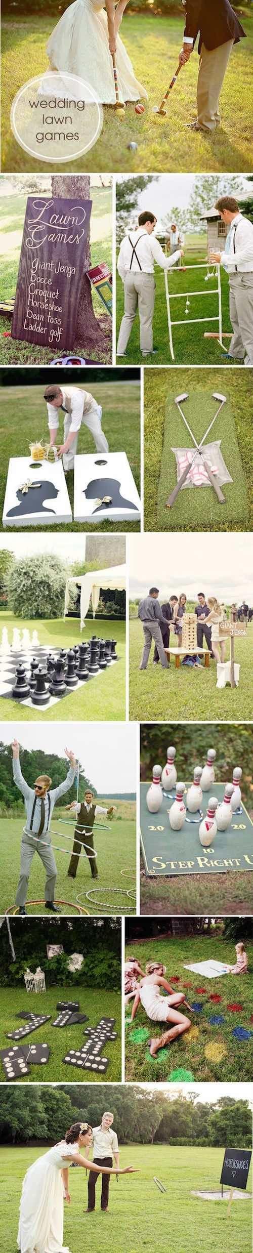 Aprovecha el espacio que los jardines para bodas te brindan y organiza juegos al aire libre.