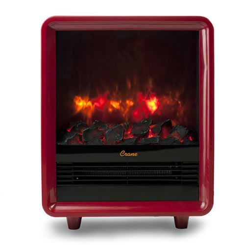 Crane Fireplace Space Heater - Red