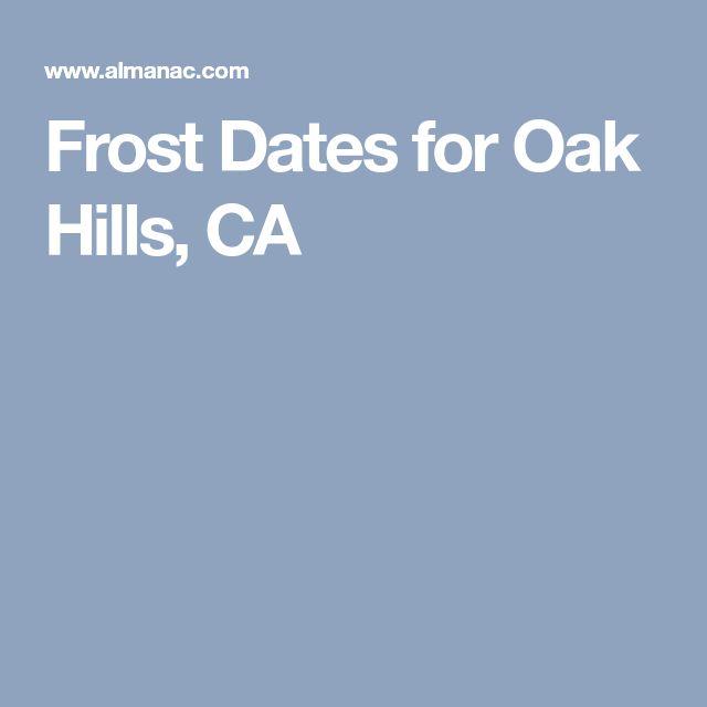Frost Dates for Oak Hills, CA