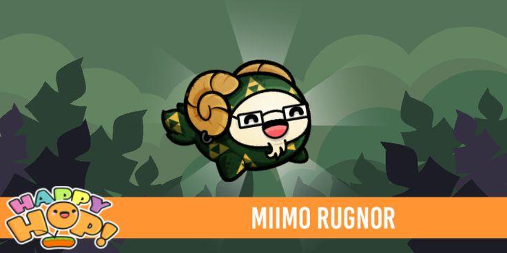 Miimo Rugnor from #HappyHop! @PlatonicGames https://itunes.apple.com/app/id1087482860 | platonicgames.com