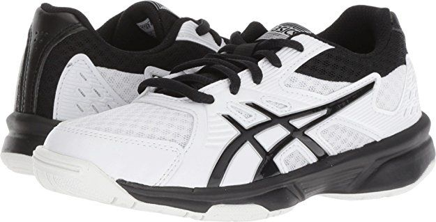Asics Kids Unisex Upcourt 3 Volleyball Little Kid Big Kid White Black 3 M Us Little Kid Girls Shoes Kids Shoes Asics