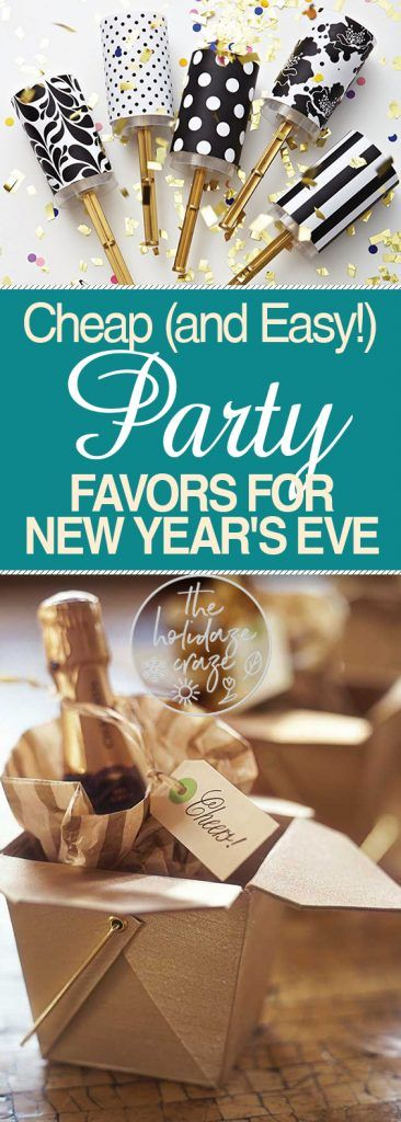 Cheap (and Easy!) Party Favors for New Year's Eve| New Years Eve, New Years Eve Party Favors, Holiday Party, Holiday Party Ideas, Party Hacks, New Years Eve Party ,DIY Party #HolidayParty #NewYearsEve
