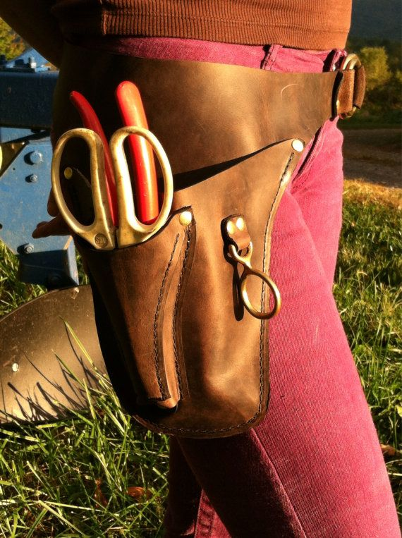 Garden Tool Belt for the FarmerFlorist by WheelerMunroe on Etsy  Stuff I Like  Garden tool