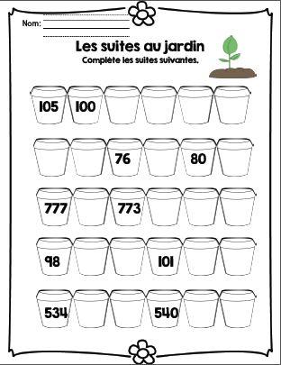 French freebie/ feuilles d'activités sur le thème du jardinage