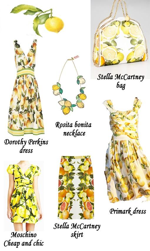 Dassmodell Tendencia Fruits Prints
