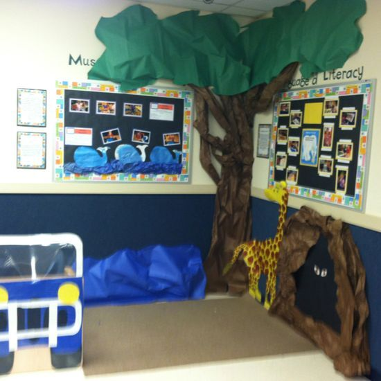 African Safari Classroom Decoration ...love the DIY tree idea for a reading/bible story time