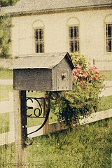 """Want this mailbox! Reminds me of the one in """"Little Women"""""""