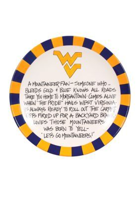 Magnolia Lane  West Virginia Mountaineers Definition Plate - Multi - One Size