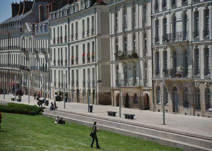 Les immeubles pas droits de l'Ile Feydeau - Nantes