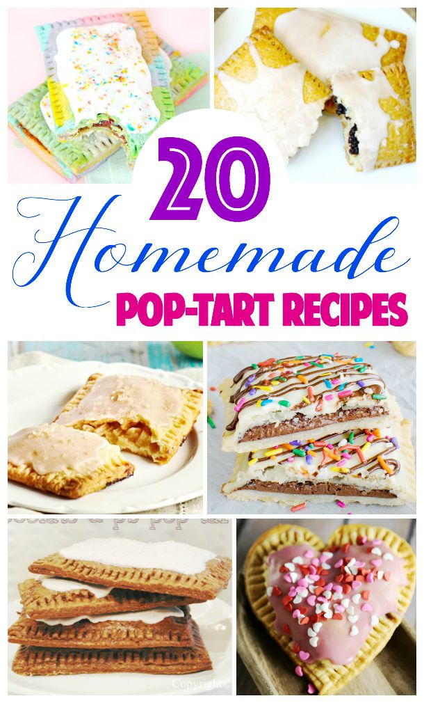 Do you love the humble pop-tart? Here are 20 Homemade Pop-Tart recipes you must try if you're looking for a pop-tart fix for breakfast, lunch, or snacks!