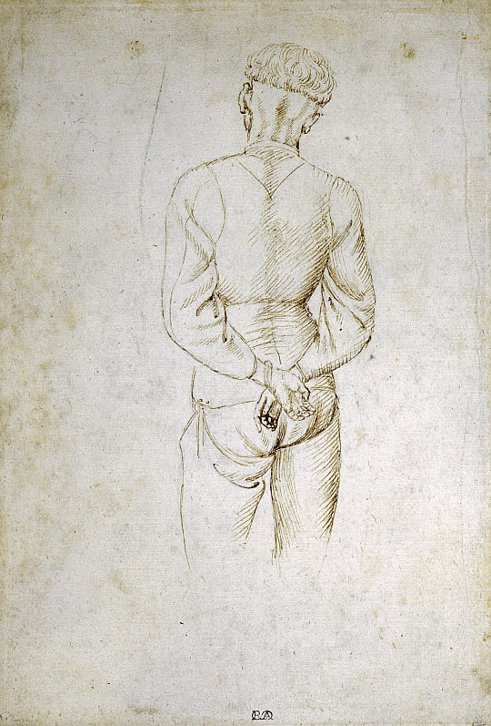 Antonio Pisanello (di Puccio Pisano)  Study of a Young Man with his Hands tied behind his back (1434)