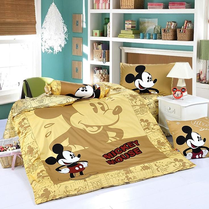 Micky Yellow Disney Bedding Sets