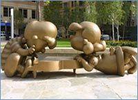 Sculpture by Tivoli Too in Landmark Plaza, St. Paul