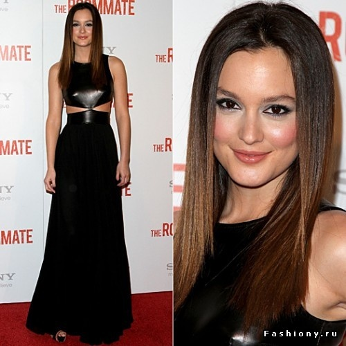 perfect dress and I love Leighton Meester!