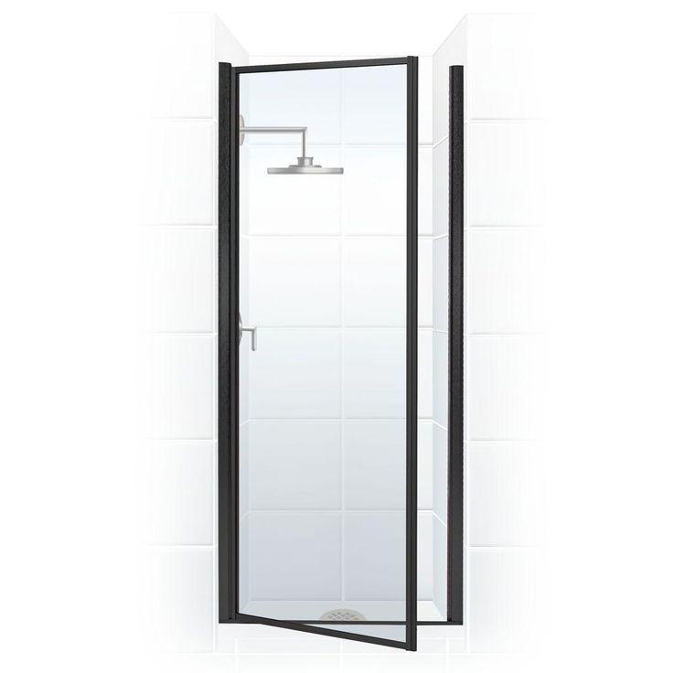 coastal shower doors legend series 28 in x 68 in framed hinge shower door