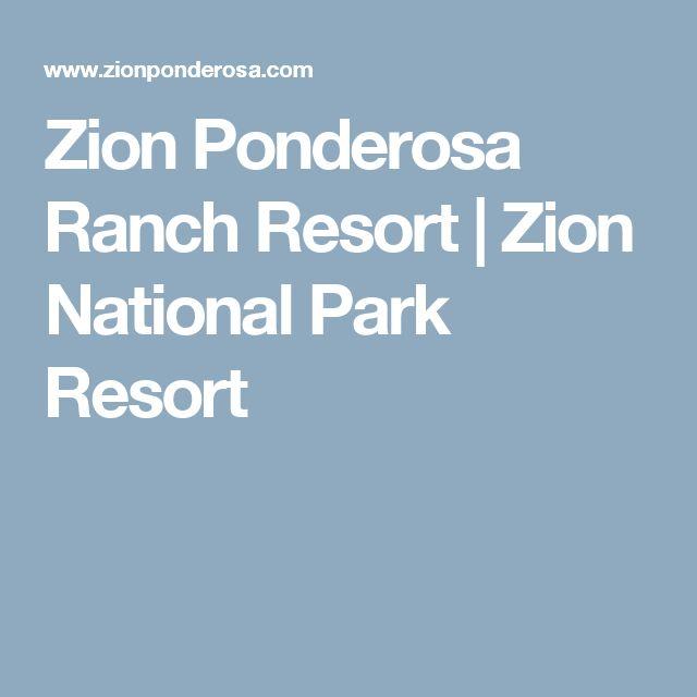 Zion Ponderosa Ranch Resort | Zion National Park Resort