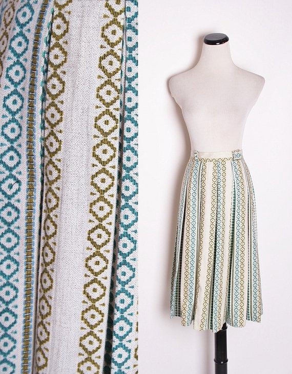 Vintage 1960s Skirt / Skirt / Skirts / Vintage Skirt by aiseirigh, $42.00: Vintage Skirt