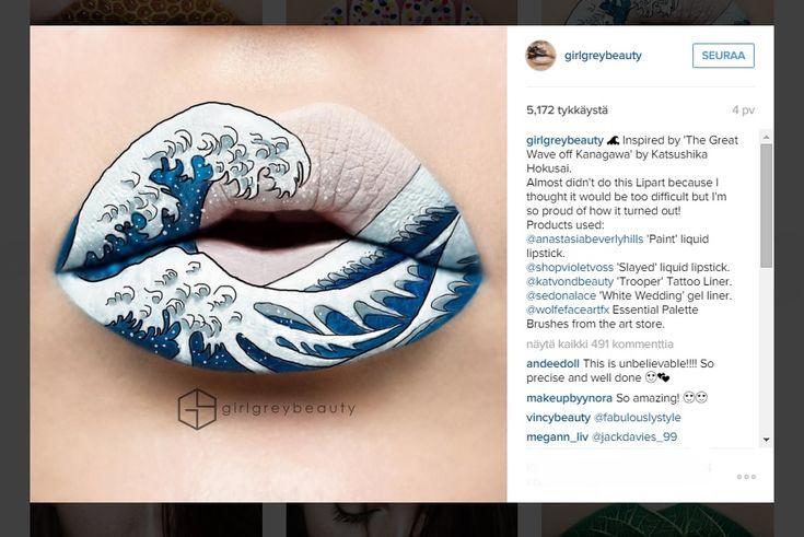 Huulimeikki kuin taidetta -meikkitaiteilijat loihtivat upeita luomuksia huuliin