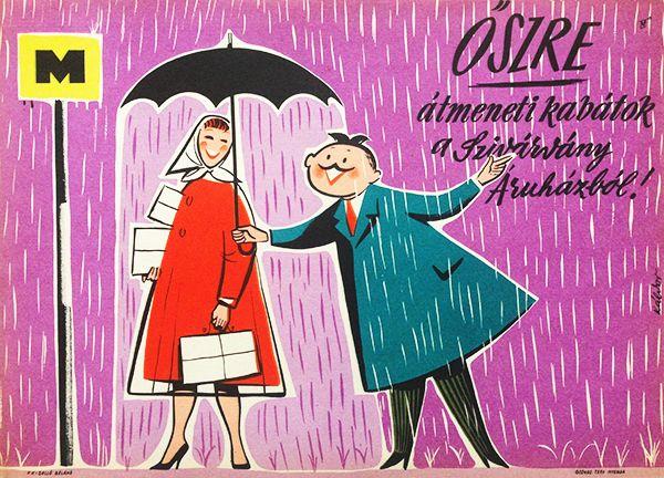 utumn coats from the Rainbow Department Store! Átmeneti kabátok őszre a Szivárvány Áruházból! 1960 Artist: Káldor László
