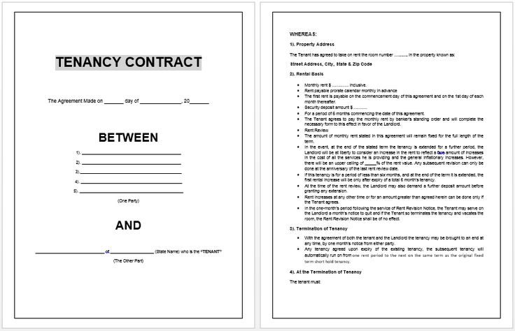 printable sample lease agreement template form real