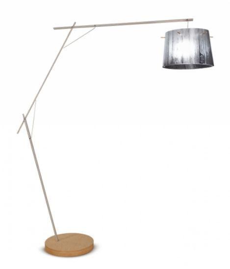 Woody lampa podlogowa 1x100W E27 bialy
