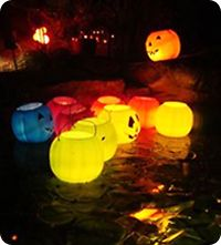 halloween floating pool pumpkins - Cheap Halloween Party Decorations