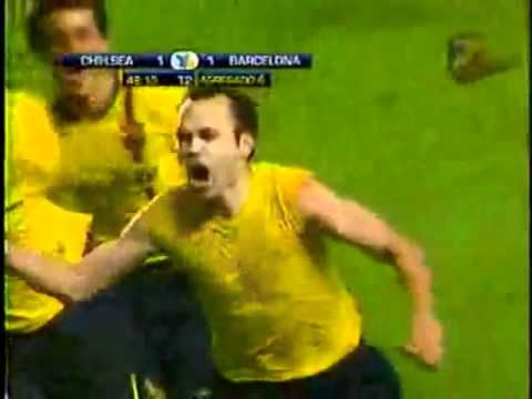 Champions League - Iniesta vs Chelsea 1-1 (2009) By Alfredo Martinez, Le Thierry Roland espagnol