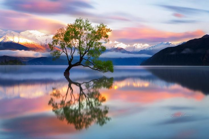 The Spumoni-Colored Skies Of Wanaka, New Zealand - Nestled at the foot of the Southern Alps in New Zealand, Wanaka is the perfect resort destination if nearby Queenstown proves too populated.
