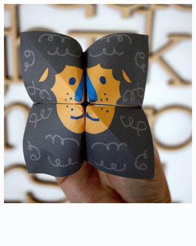 J'ai découvert ce lion hier sur Moodkids, il est kro mignon et très facile à faire puisqu'il fonctionne sur le principe de la cocotte en papier. Il suffi...