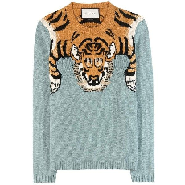 gucci 2 piece. wool sweater ($770) ❤ liked on polyvore featuring tops, sweaters, jumper, gucci 2 piece