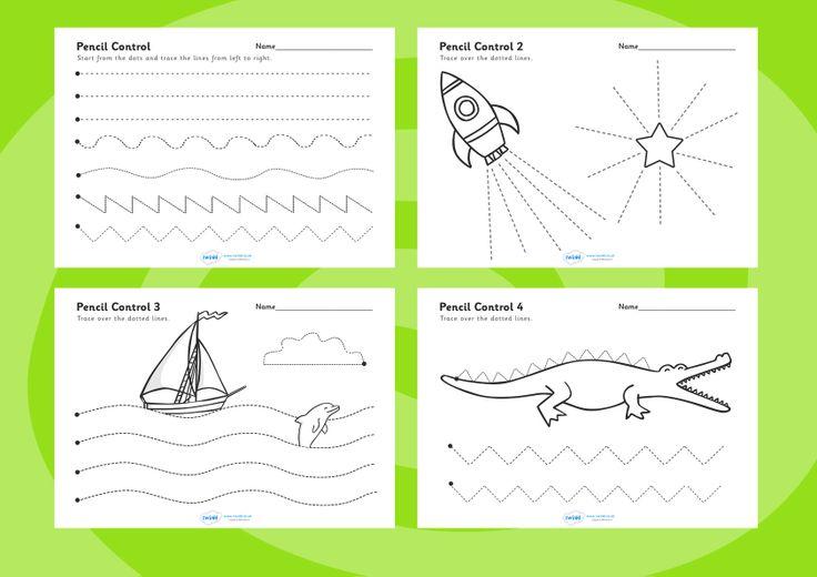 Fine Motor Control Worksheets : Pencil control worksheets free printables