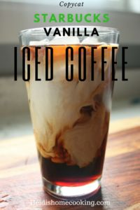 Save a bunch of money by learning how to make your own Starbucks Vanilla Iced Coffee at home. This homemade recipe is easy and cost effective. It is the perfect summer drink and goes with all types of food.