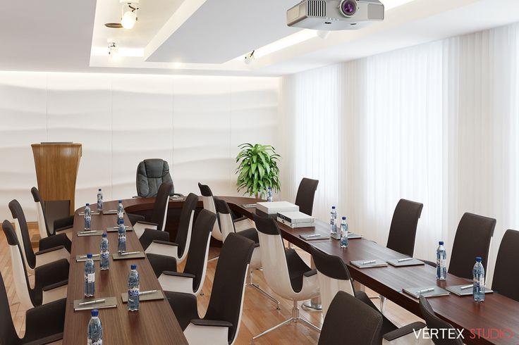 3D-Визуализация интерьера конференц зала «EVRAZ» на 17 человек. Заказчик: Cept Design Studio cept-design.ru #3dvisual #3двизуализация #3d #3д #визуализация #дизайн #интерьер #дизайнинтерьера #стиль #stile #conference #конференц #конференцзал #vertex