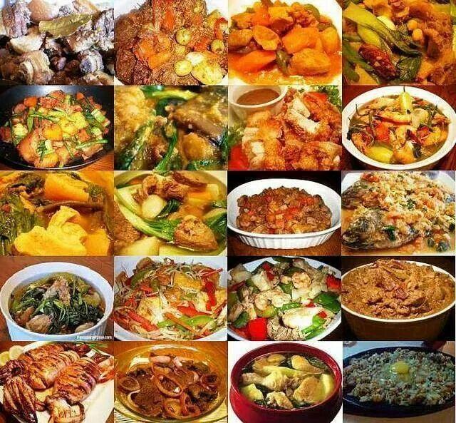 VARIETY OF FILIPINO DISHES