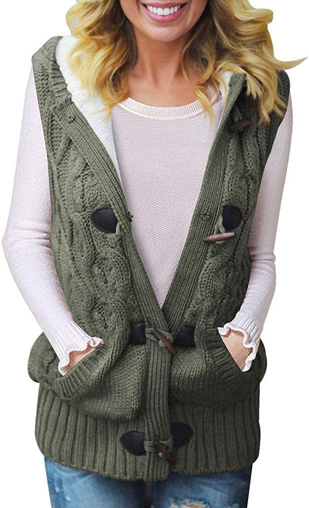 Idea by Kelly L. on My Wish List | Hooded knit cardigan