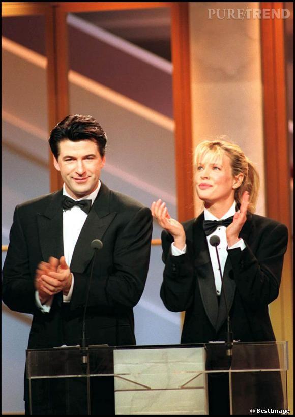 Kim Basinger et Alec Baldwin lors de la cérémonie des César en 1994.