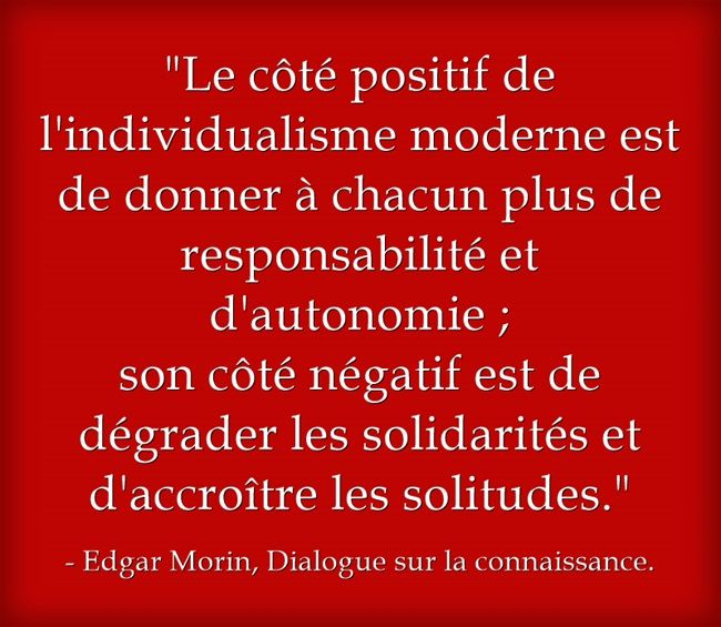 Edgar Morin, Dialogue sur la connaissance.