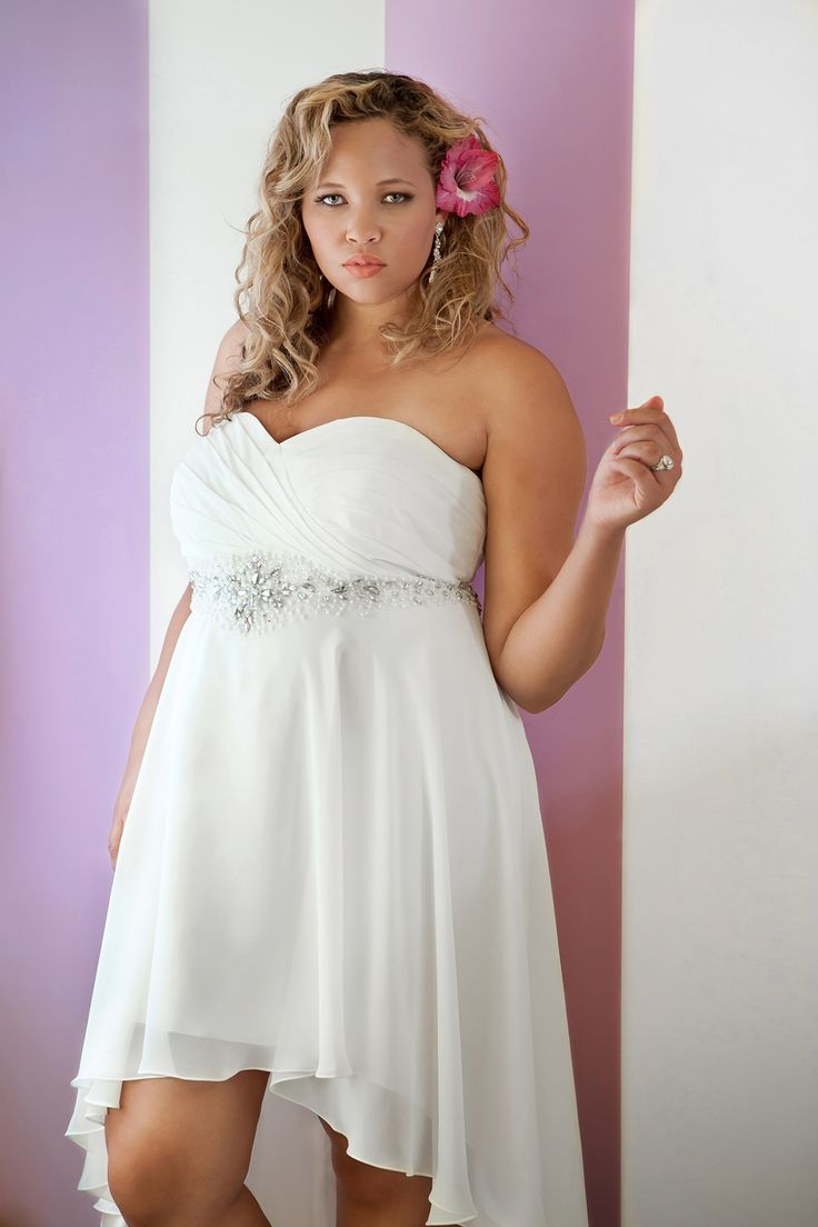 Cute High Low Plus Size Wedding Dresses