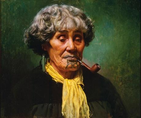 Charles Goldie - Ina te Papatahi, A Ngapuhi Chieftainess