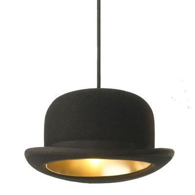 Lampe suspension Chapeau Melon Jeeves  215.00 pauletlea.com