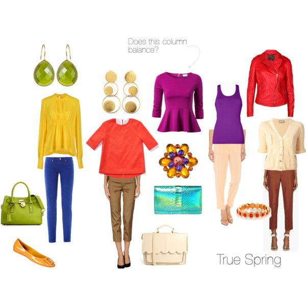 """Balancing True Spring"" by christinems on Polyvore"