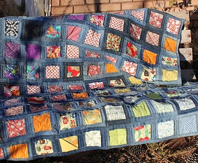 Rowena's Rants: Denim Quilt from Heck Tutorial (So You Too Can Suffer as I Did)